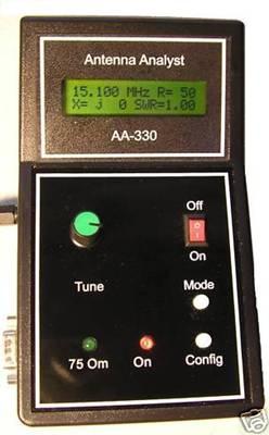 Общий вид прибора для анализа антенн AA330