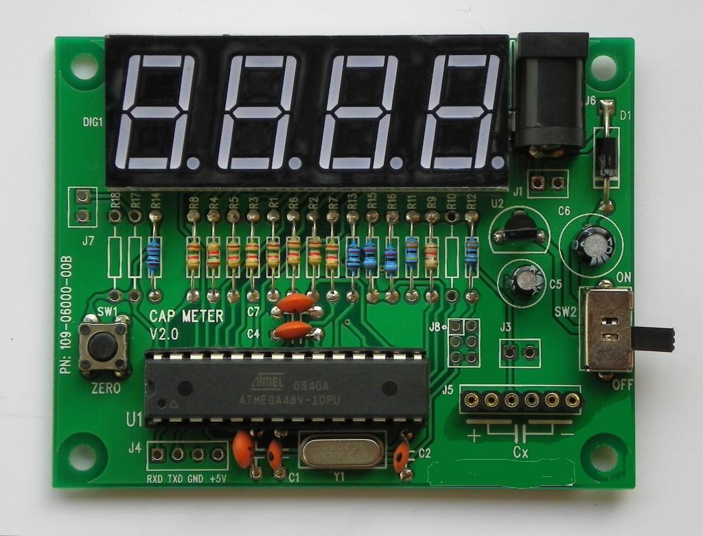 Измеритель ёмкости конденсаторов на микроконтроллере своими руками